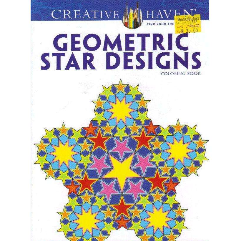Bookdealers:Creative Haven Geometric Star Designs Coloring Book (Creative Haven Coloring Books) | A. G. Smith,