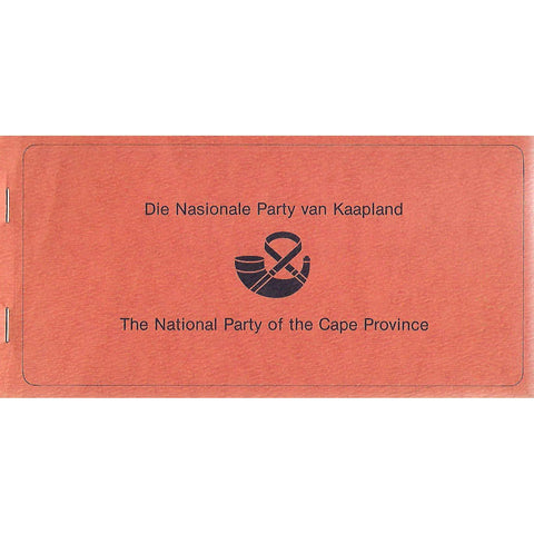 Die Nasionale Party van Kaapland - The National Party of the Cape Province (Membership Sign-Up Booklet)