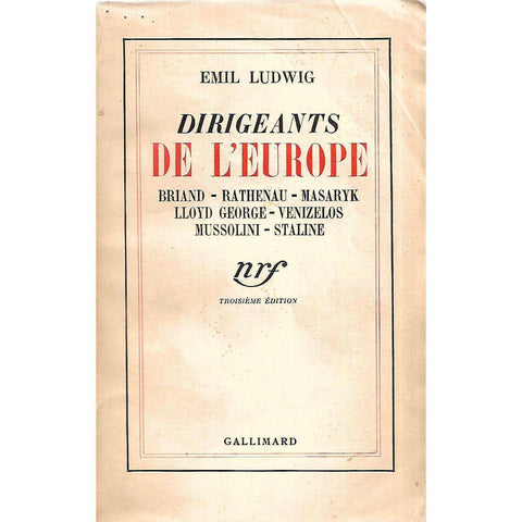 Dirigeants de L'Europe (French) | Emil Ludwig
