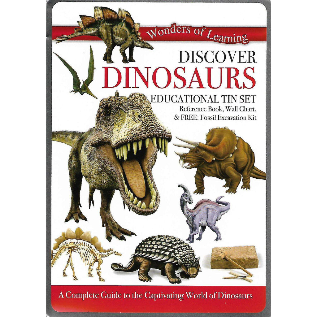 Bookdealers:Discover Dinosaurs: Educational Tin Set | North Parade Publishing