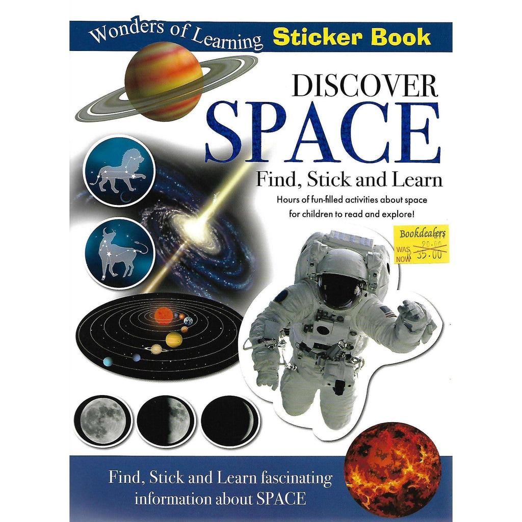 Bookdealers:Discover Space: Find, Stick and Learn (Sticker Book)