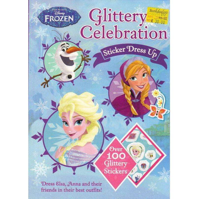 Bookdealers:Disney Frozen Glittery Celebration Sticker Dress Up | Parragon Books Ltd