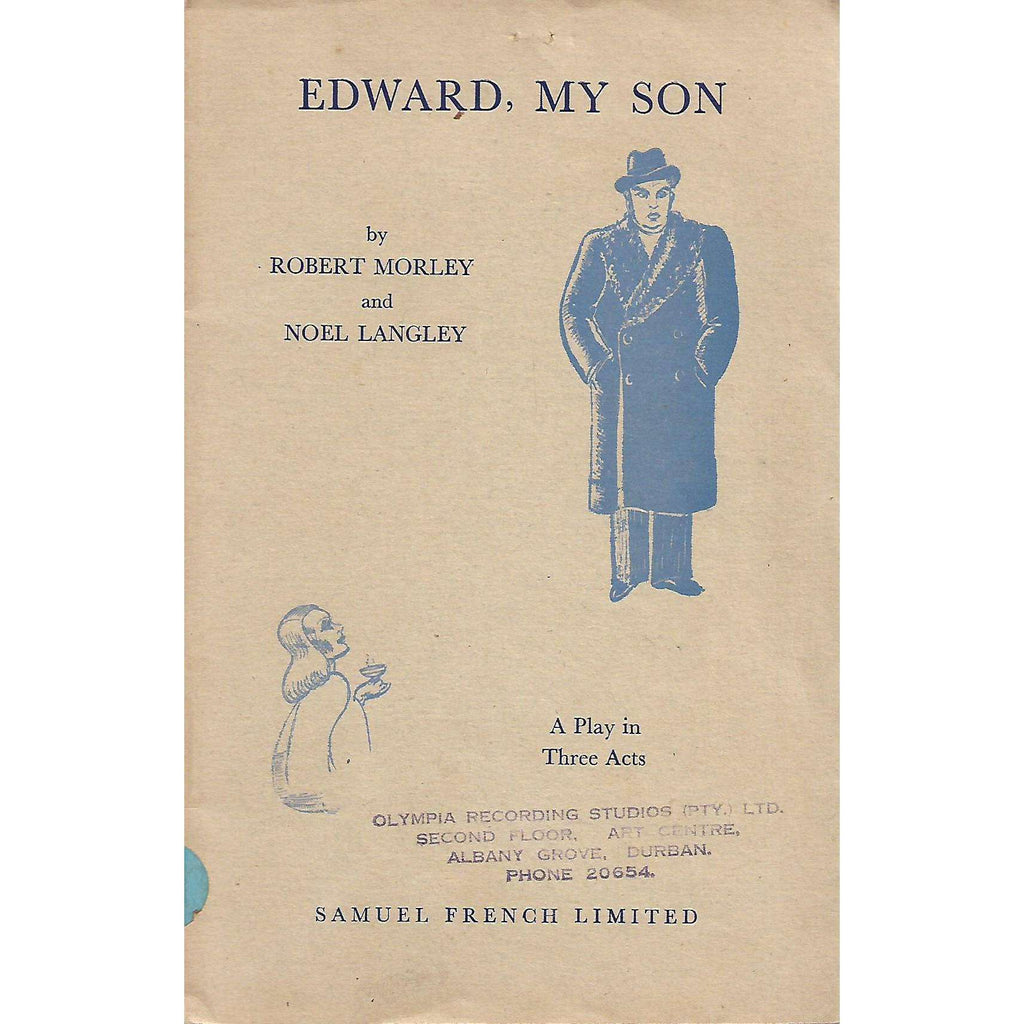 Bookdealers:Edward, My Son: A Play in Three Acts | Robert Morley and Noel Langley