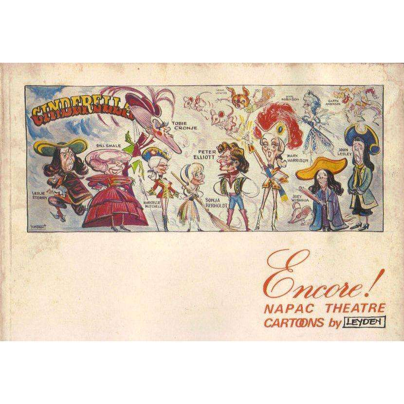 Bookdealers:Encore!: NAPAC Theatre Cartoons (Water Stained) | Jock Leyden; Natal Performing Arts Council