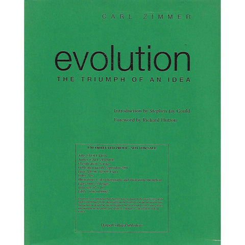 Evolution: The Triumph of an Idea (Uncorrected Proof) | Carl Zimmer