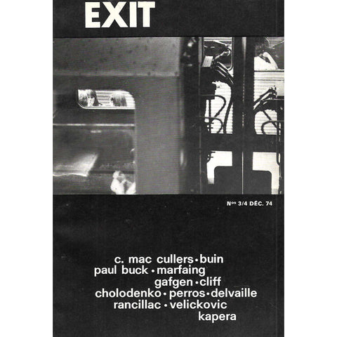 Exit (Nos. 3/4, December 1974) (French)