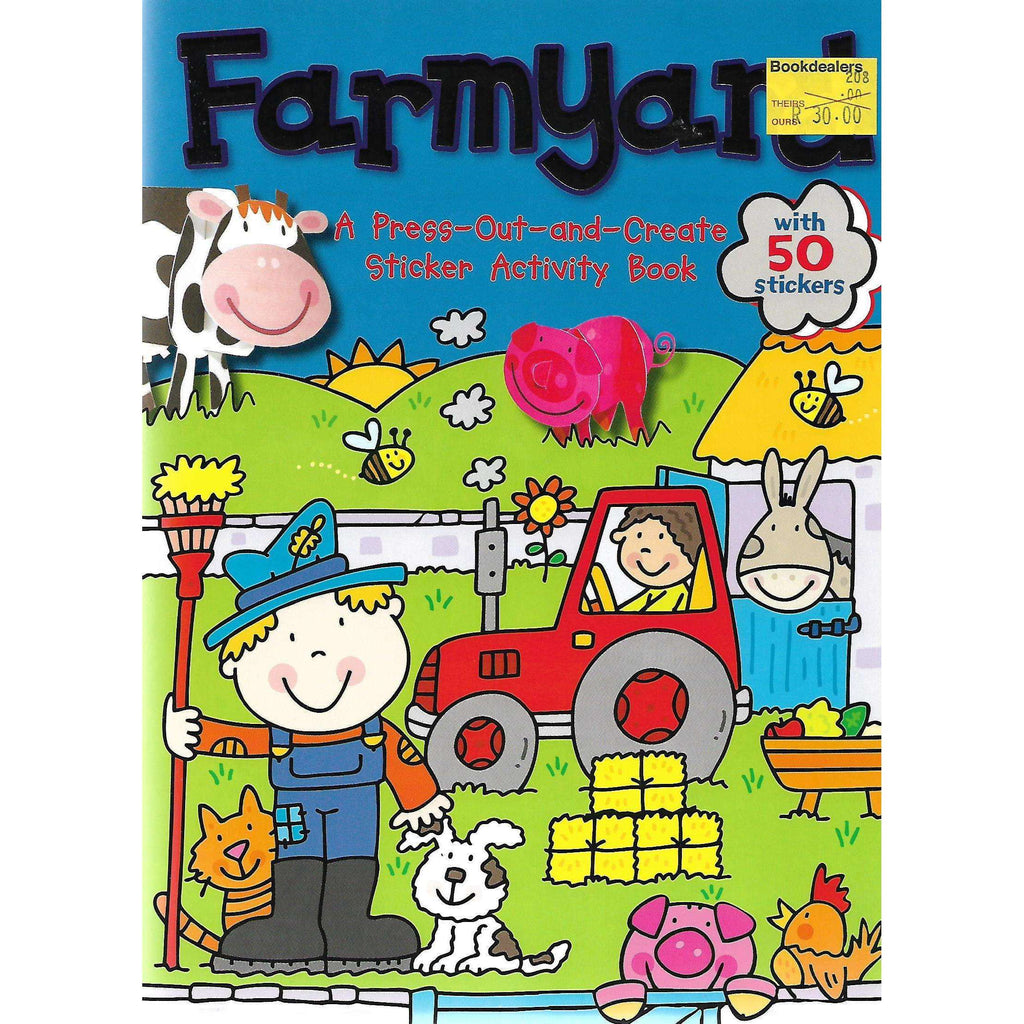 Bookdealers:Farmyard: A Press-Out-and-Create Sticker Activity Book | Dereen Taylor
