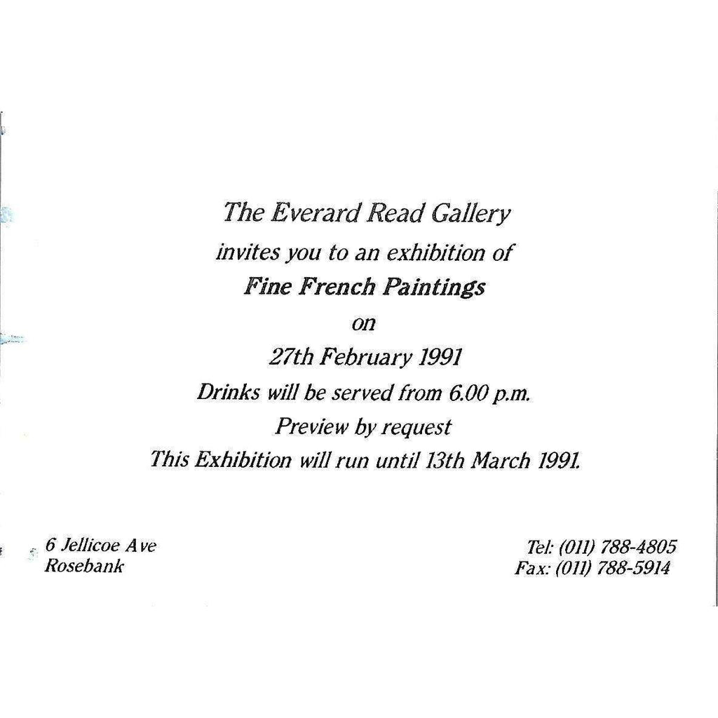 Bookdealers:Fine French Paintings (Invitation to the Exhibition)