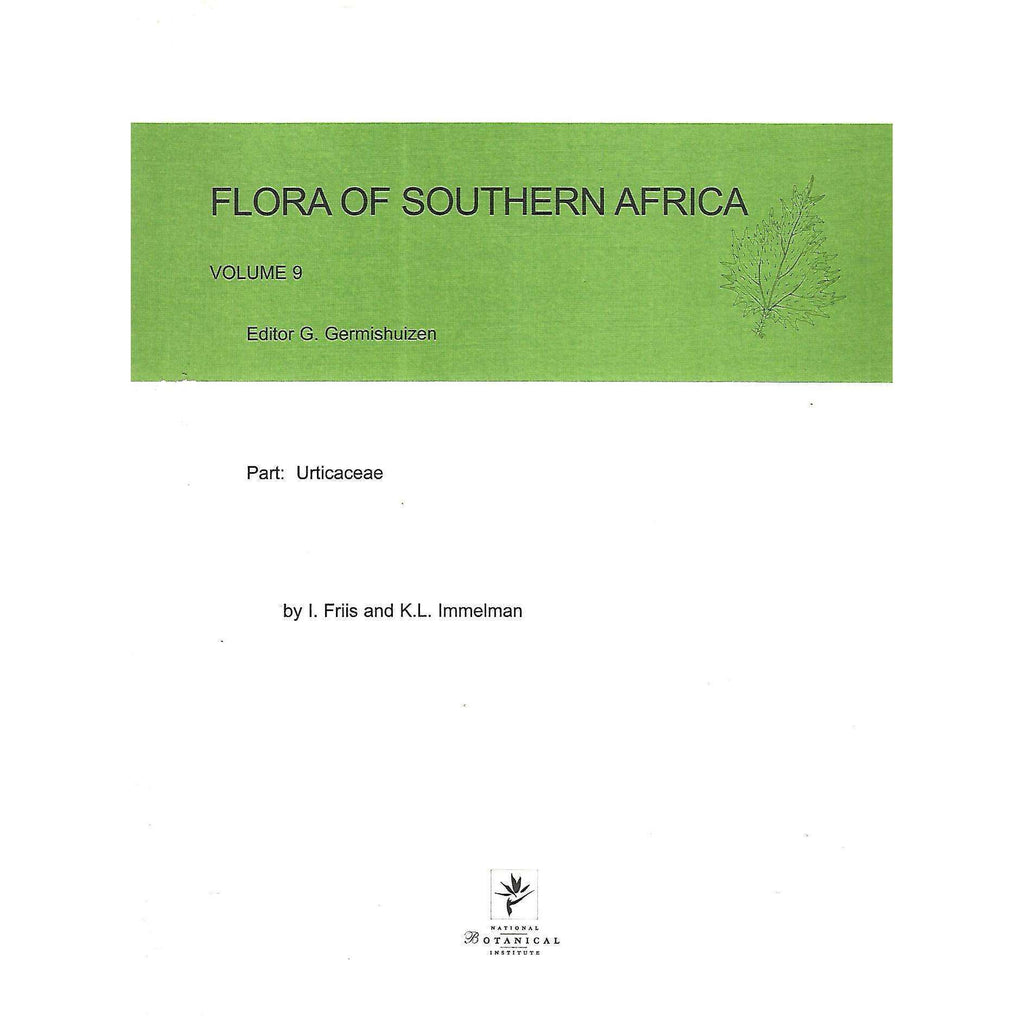 Bookdealers:Flora of South Africa, Volume 9: Urticaceae | G. Germishuizen (Ed.)