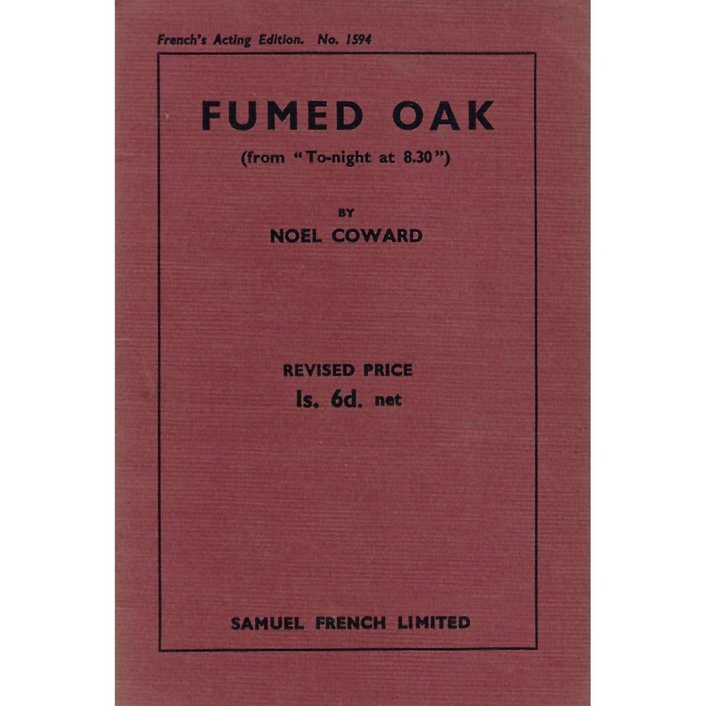 "Bookdealers:Fumed Oak (from ""To-night at 8:30"") 