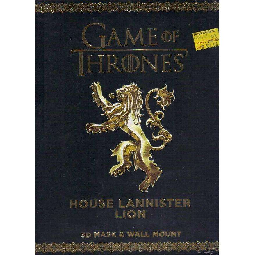 Bookdealers:Game of Thrones. House Lannister Lion: 3D Mask & Wall Mount