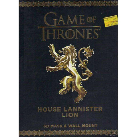Game of Thrones. House Lannister Lion: 3D Mask & Wall Mount