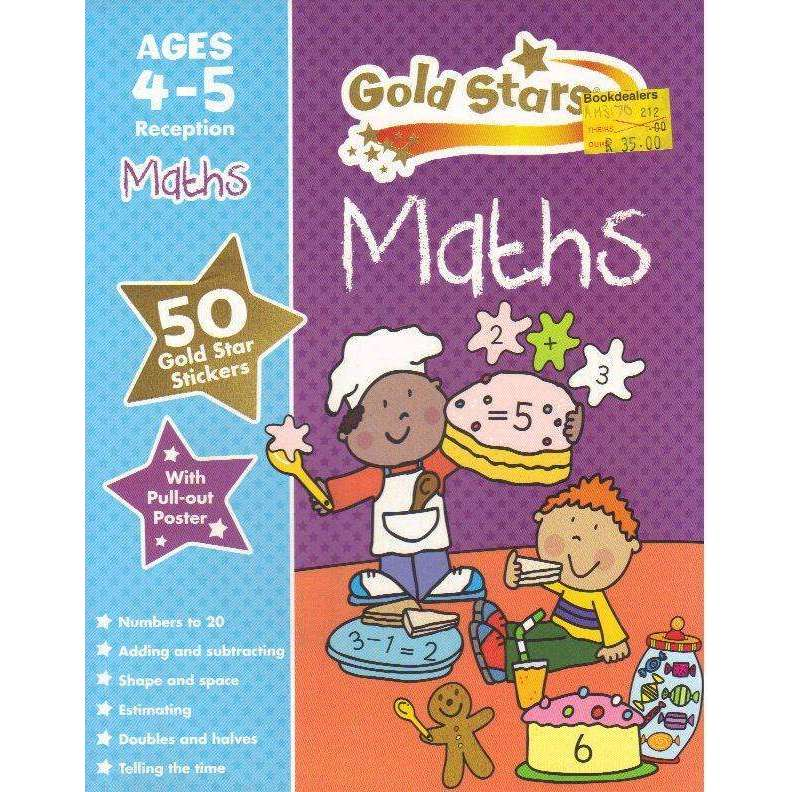 Bookdealers:Gold Stars Maths Ages 4-5 (Preschool Workbook with 50 Stickers, and Pull-Out Poster) | Frances Mackay
