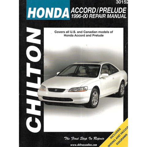 Honda Accord/Prelude 1996-00 Repair Manual