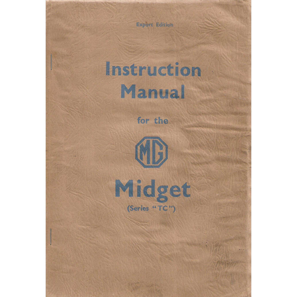 "Bookdealers:Instruction Manual for the MG Midget (Series ""TC"")"
