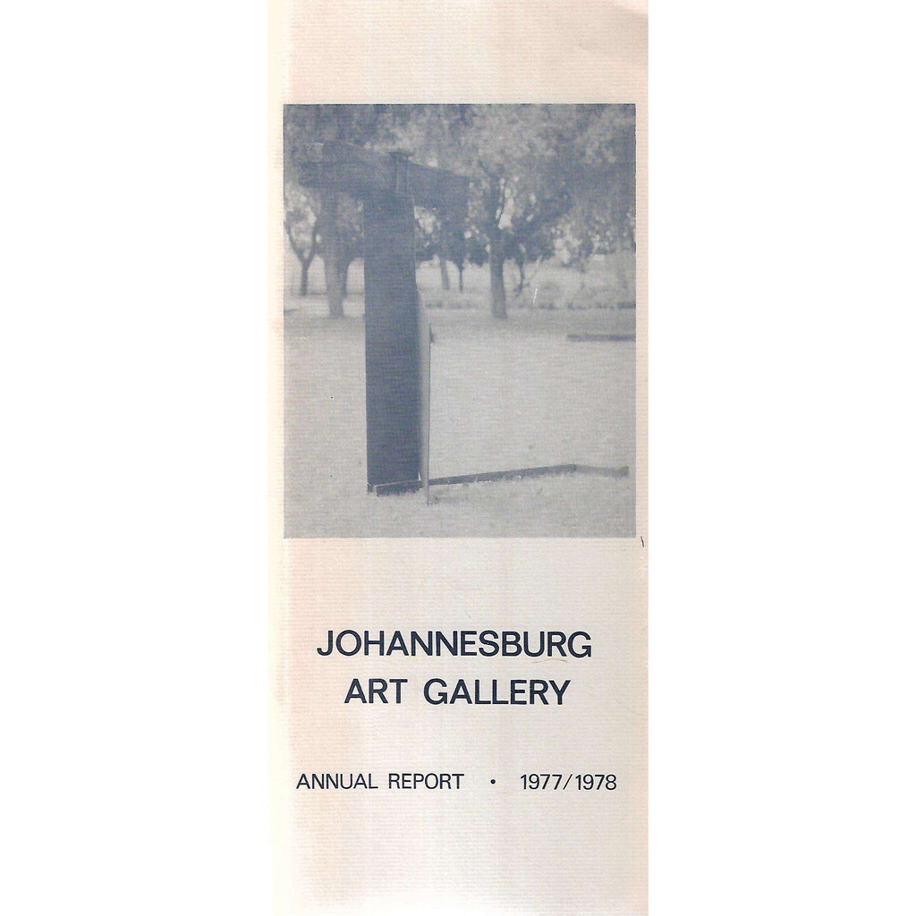 Bookdealers:Johannesburg Art Gallery Annual Report (1977/1978)