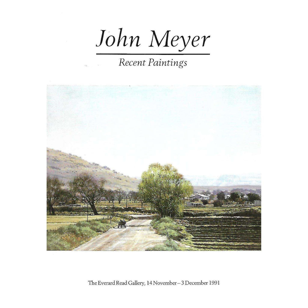 Bookdealers:John Meyer: Recent Paintings (Invitation to the Exhibition)