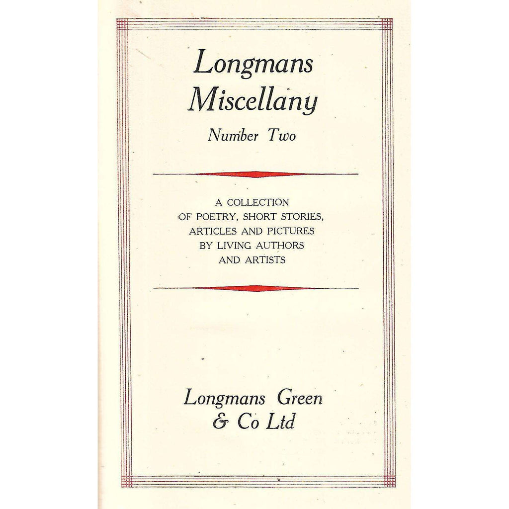 Bookdealers:Longman's Miscellany (Number Two)