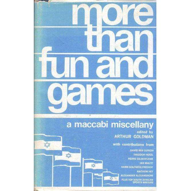 Bookdealers:More Than Fun and Games: A Maccabi Miscellany | Editor: Arthur Goldman