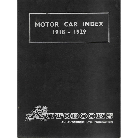 Motor Car Index 1918-1929