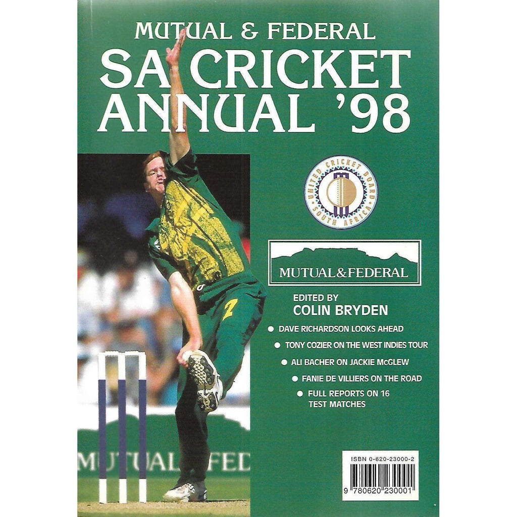 Bookdealers:Mutual & Federal SA Cricket Annual '98 (Vol. 45) | Colin Bryden (Ed.)