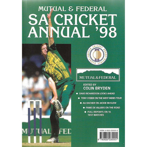 Mutual & Federal SA Cricket Annual '98 (Vol. 45) | Colin Bryden (Ed.)