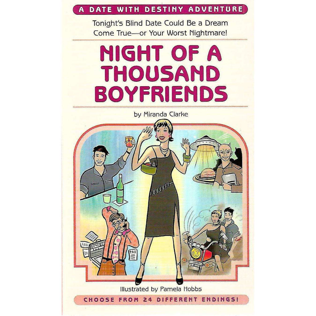 Bookdealers:Night of a Thousand Boyfriends: Choose from 24 Different Endings! | Miranda Clarke