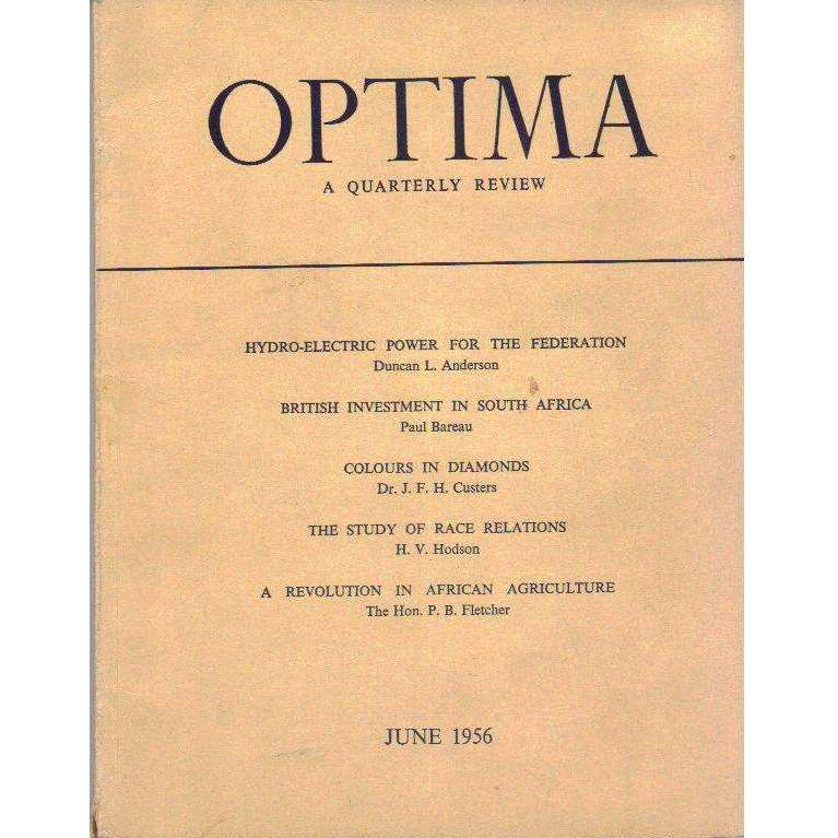Bookdealers:Optima: A Quarterly Review, Published in the Interests of Mining, Industrial, Scientific and Economic Progress | Various