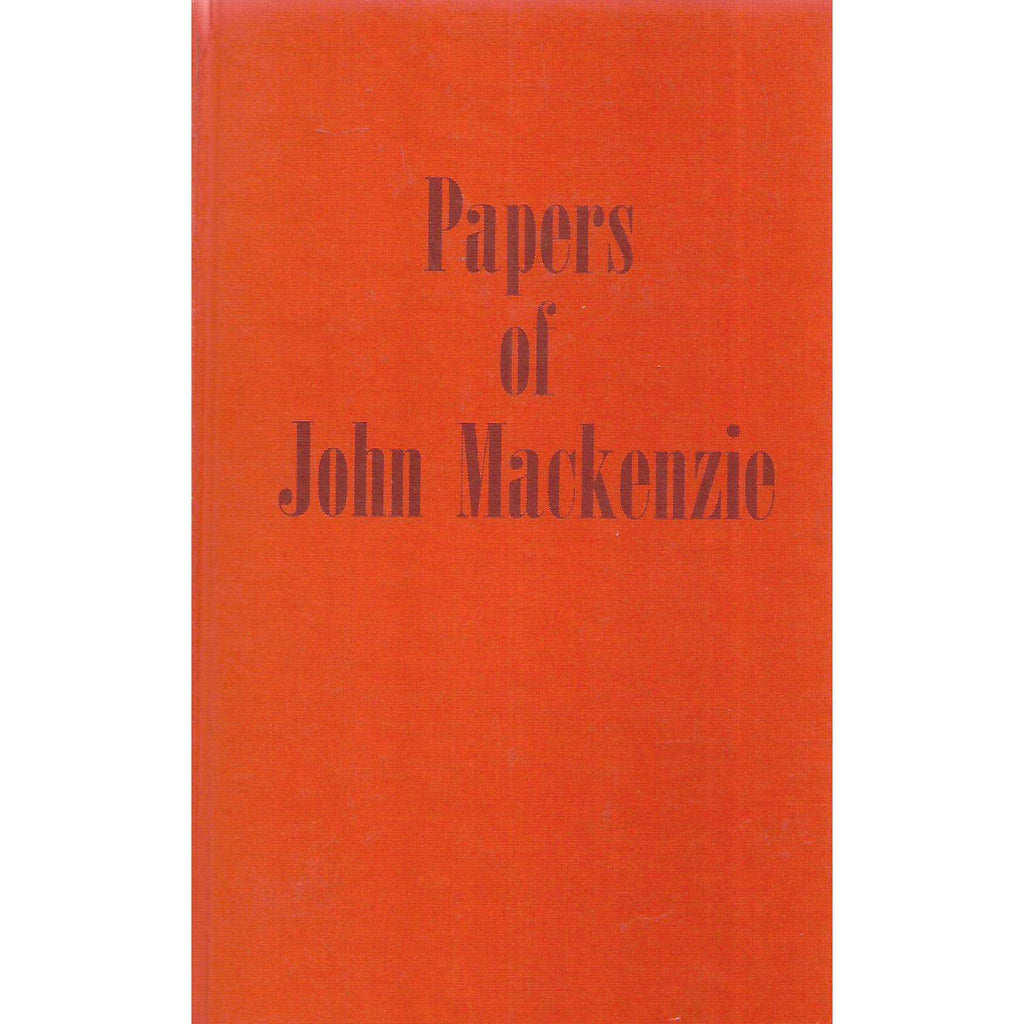 Bookdealers:Papers of John Mackenzie | Anthony J. Dachs (Ed.)