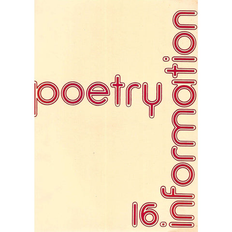 Poetry Information (No. 16, Winter 1976/7) | Peter Hodgkiss (Ed.)