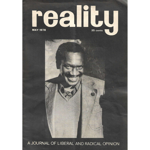 Reality (May 1978): A Journal of Liberal and Radical Opinion