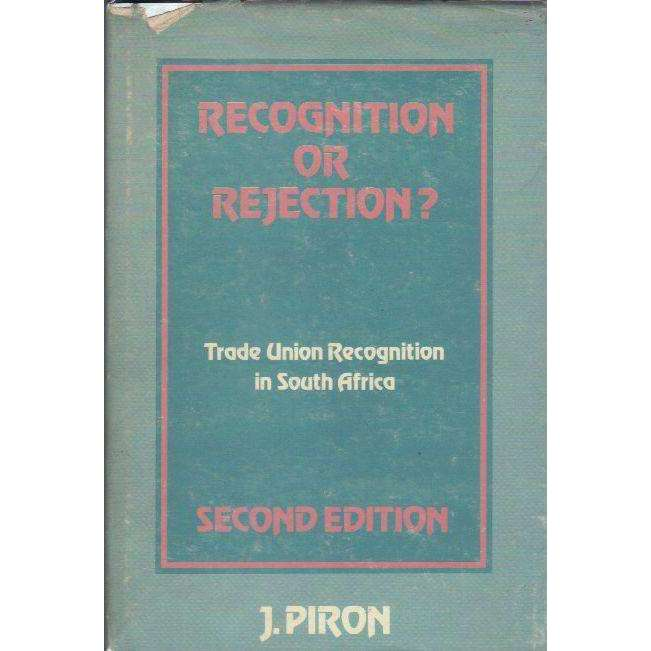 Bookdealers:Recognition or Rejection?: Trade Union Recognition in South Africa | Johan Piron