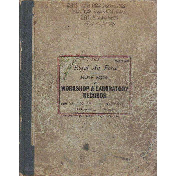 Bookdealers:Royal Air Force Note Book For Workshop & Laboratory Records