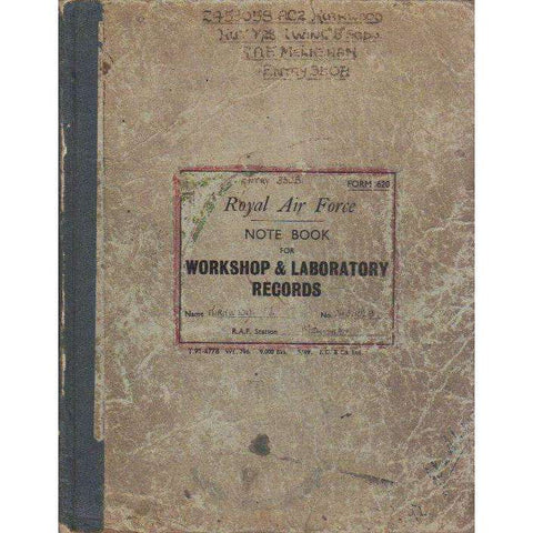 Royal Air Force Note Book For Workshop & Laboratory Records