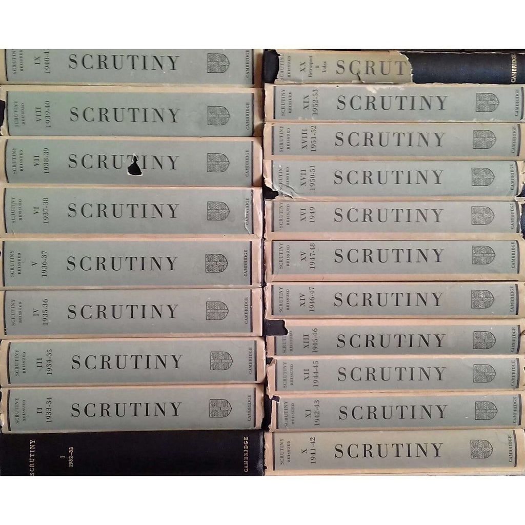 Bookdealers:Scrutiny: Reissued in 20 Volumes with an Index and Retrospect (Complete Set in 20 Vols.)