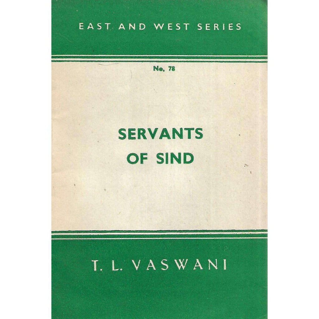 Bookdealers:Servants of Sind | T. L. Vaswani