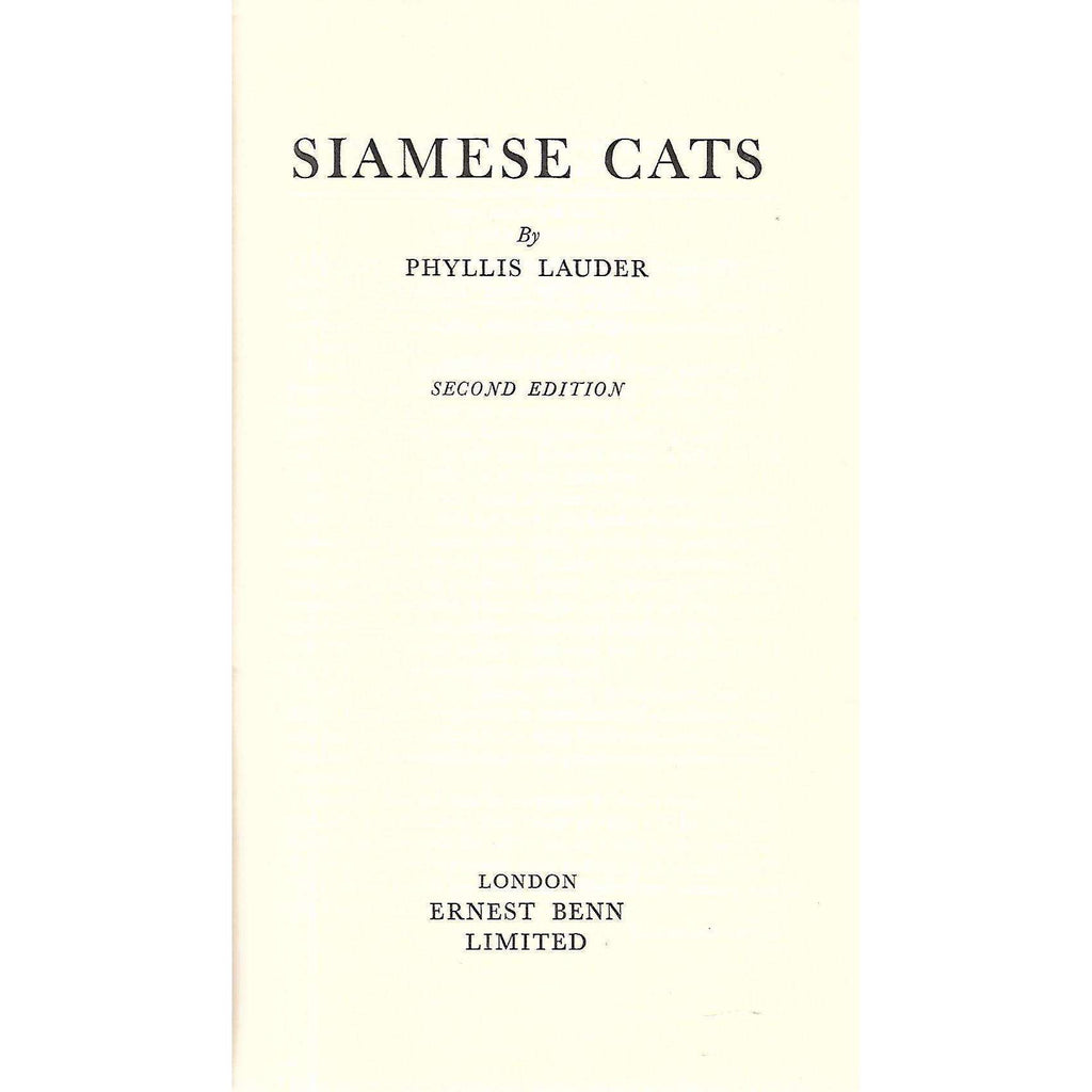 Bookdealers:Siamese Cats | Phyllis Lauder