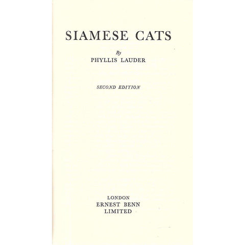 Siamese Cats | Phyllis Lauder