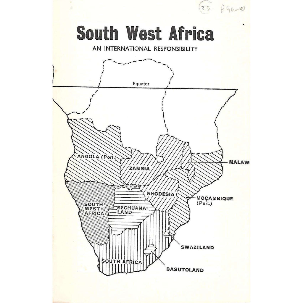 Bookdealers:South West Africa: An International Responsibility