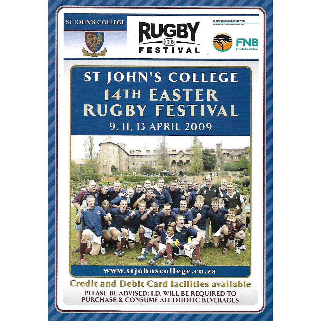 Bookdealers:St John's College 14th Easter Rugby Festival (April 2009)