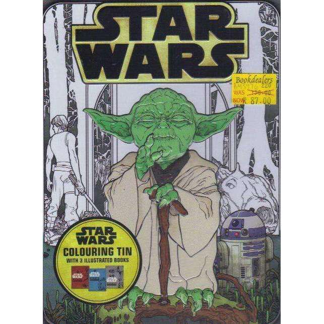 Bookdealers:Star Wars Colouring Tin: With 3 Illustrated Books