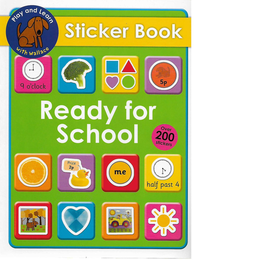 Bookdealers:Ready for School Sticker Book | Priddy Books