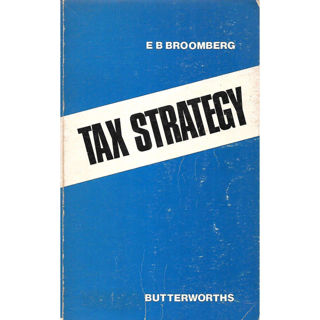 Bookdealers:Tax Strategy | E. B. Broomberg