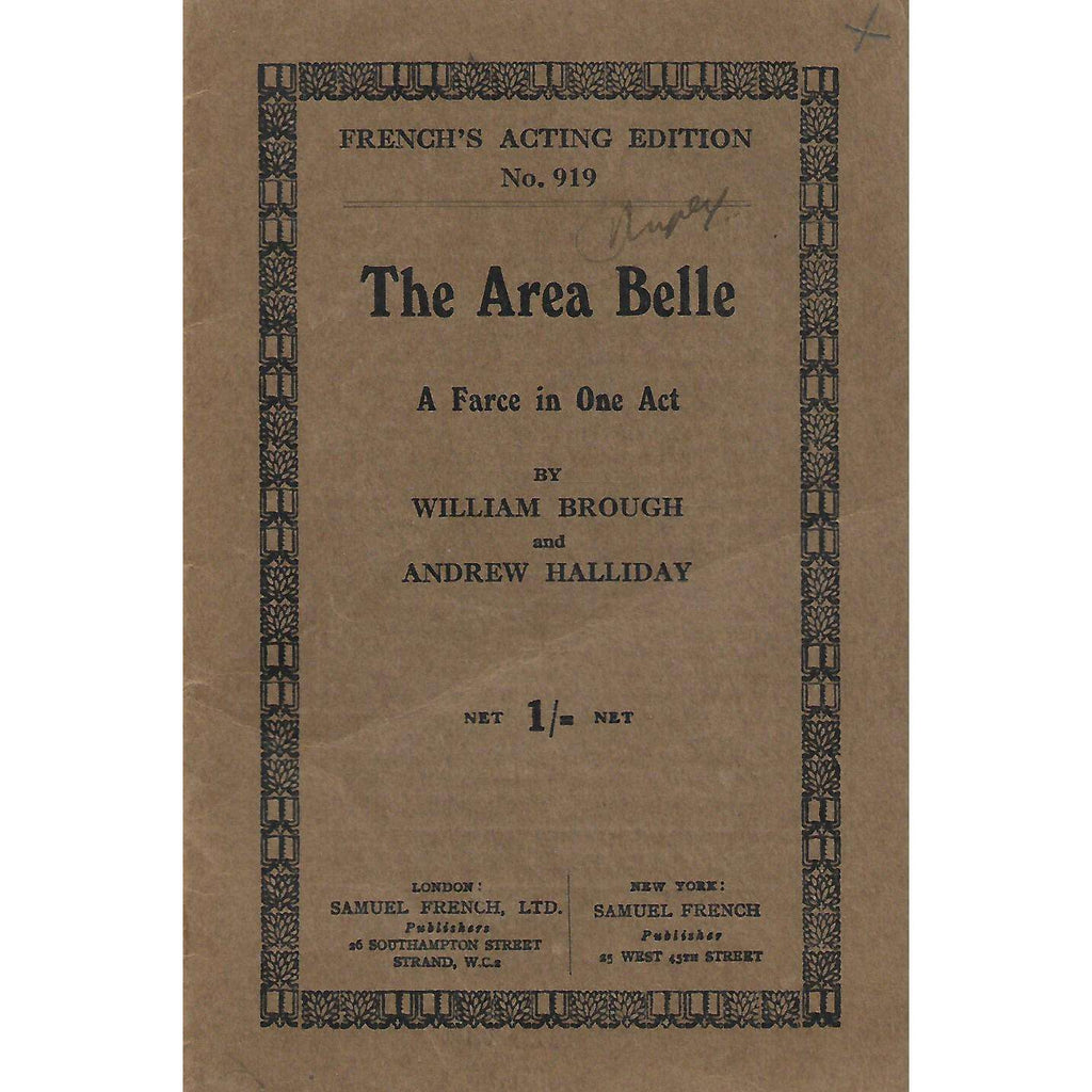 Bookdealers:The Area Belle: A Farce in One Act | William Brough and Andrew Halliday
