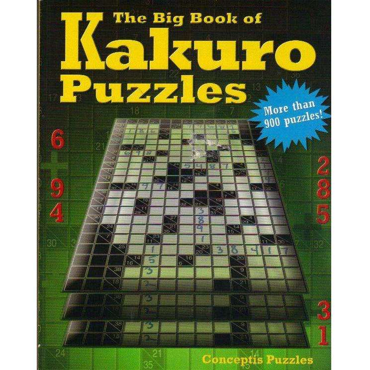 Bookdealers:The Big Book of Kakuro Puzzles | Conceptis Puzzles