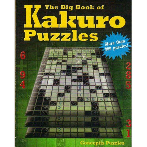The Big Book of Kakuro Puzzles | Conceptis Puzzles