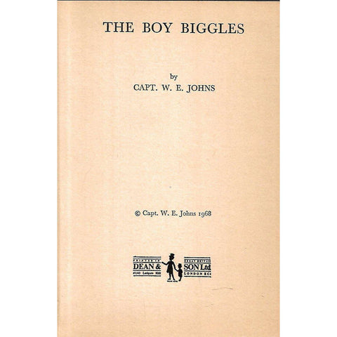 The Boy Biggles | Capt. W. E. Johns