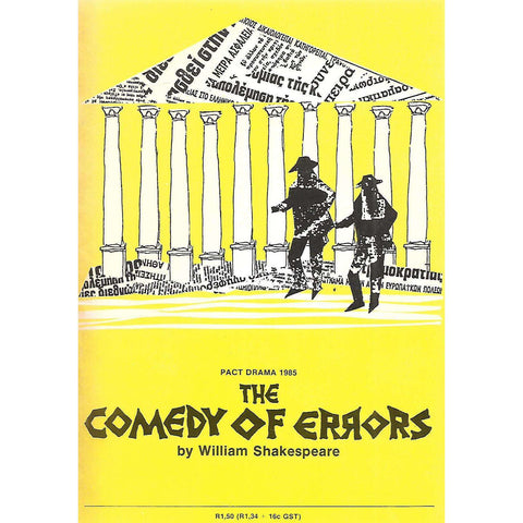 The Comedy of Errors (Staged by The Performing Arts Council Transvaal, Programme Brochure)
