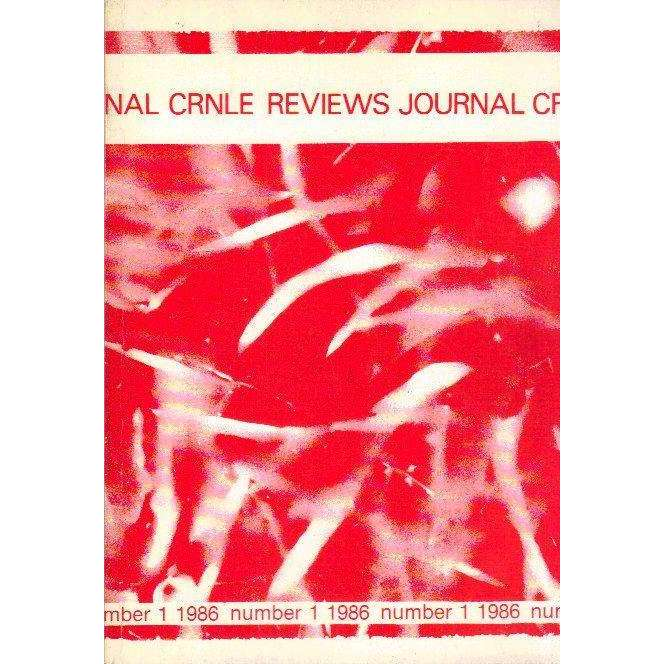 Bookdealers:The CRNLE Reviews Journal (Number 1 1986) | Editors Haydn Moore Williams, Dr Susan Hosking, Sudesh Mishra