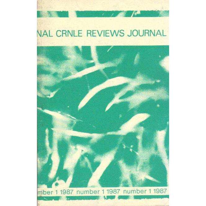 Bookdealers:The CRNLE Reviews Journal (Number 1 1987) | Editor's Haydn Moore Williams, Dr Susan Hosking, Sudesh Mishra